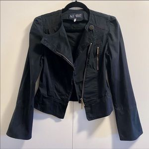 Armani Jeans Black Cropped Jacket US 8 or Small